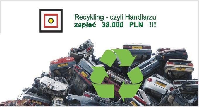 Recykling – czyli handlarzu zapłać 38 000 PLN !!!