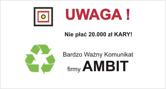 WAŻNY KOMUNIKAT firmy AMBIT