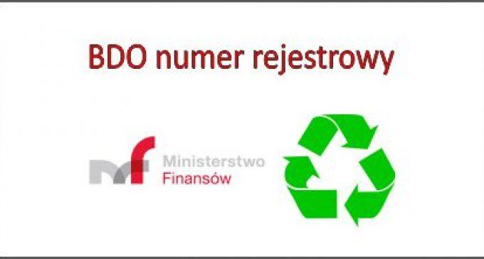 BDO – gdzie musimy podawać Numer Rejestrowy
