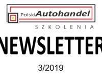PolskiAutohandel.pl Szkolenia – NEWSLETTER 3/2019