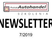 PolskiAutohandel.pl Szkolenia – NEWSLETTER 7/2019