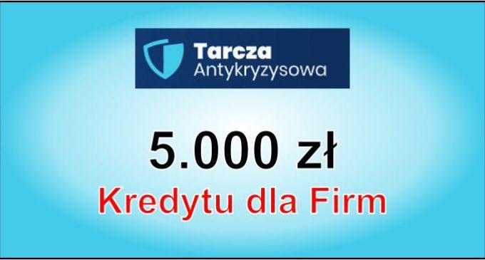 Tarcza Antykryzysowa – 5.000 zł pożyczki dla przedsiębiorcy