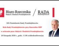 XIX Posiedzeniu Rady Przedsiębiorców z Premierem Jarosławem Gowinem