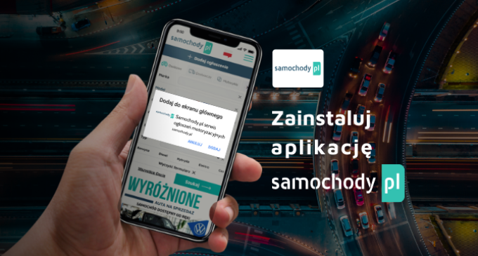 Pierwsza aplikacja Samochody.pl